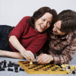 Playing chess game — Stock Photo