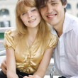 Close-up of a young couple in love — Stock Photo