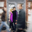 Couple inlove on street — Stock Photo #1318040