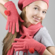 Stock Photo: Girl in winter clothing