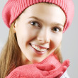 Winter smile — Stock Photo