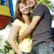 Couple on the carousel — Stock Photo #1544027
