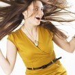 Stock Photo: Wind in the hair