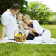 Stock Photo: Family having fun on the picnic