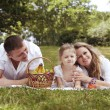 Family sharing moments together — Stock Photo