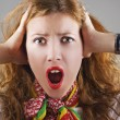 Beautiful shocked woman — Stock Photo