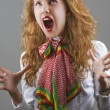 Royalty-Free Stock Photo: Fashion model screaming.