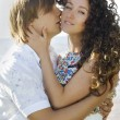 Young couple kissing — Foto de Stock