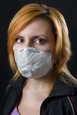 Woman wearing face mask — Stock Photo