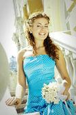 Beautiful laughing bride — Stock Photo