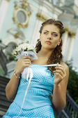 Sad bride — Stock Photo