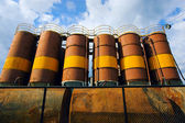Barrels with fuel — Stock Photo
