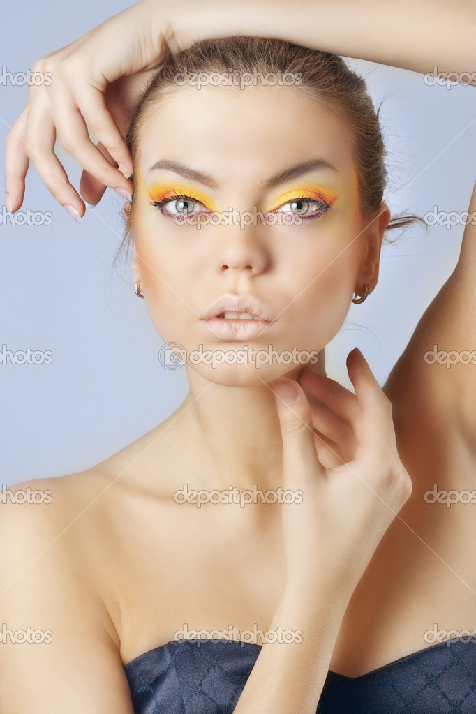 Close-up of a fashion model posing — Stock Photo ...