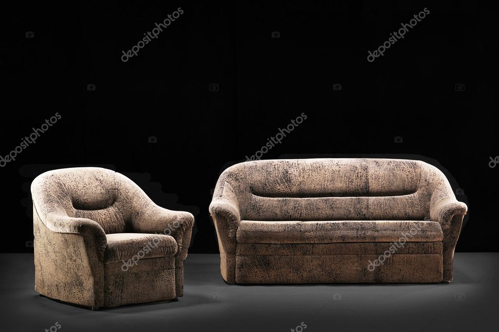 Modern sofa on a black   Stock Photo #1447537