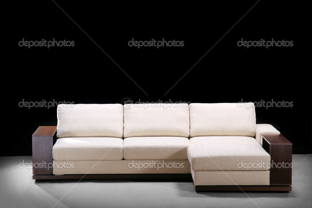 Modern sofa on a black   Photo #1447539
