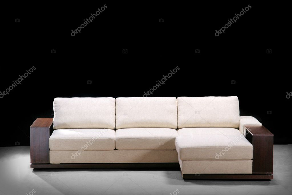 Modern sofa on a black    #1447539