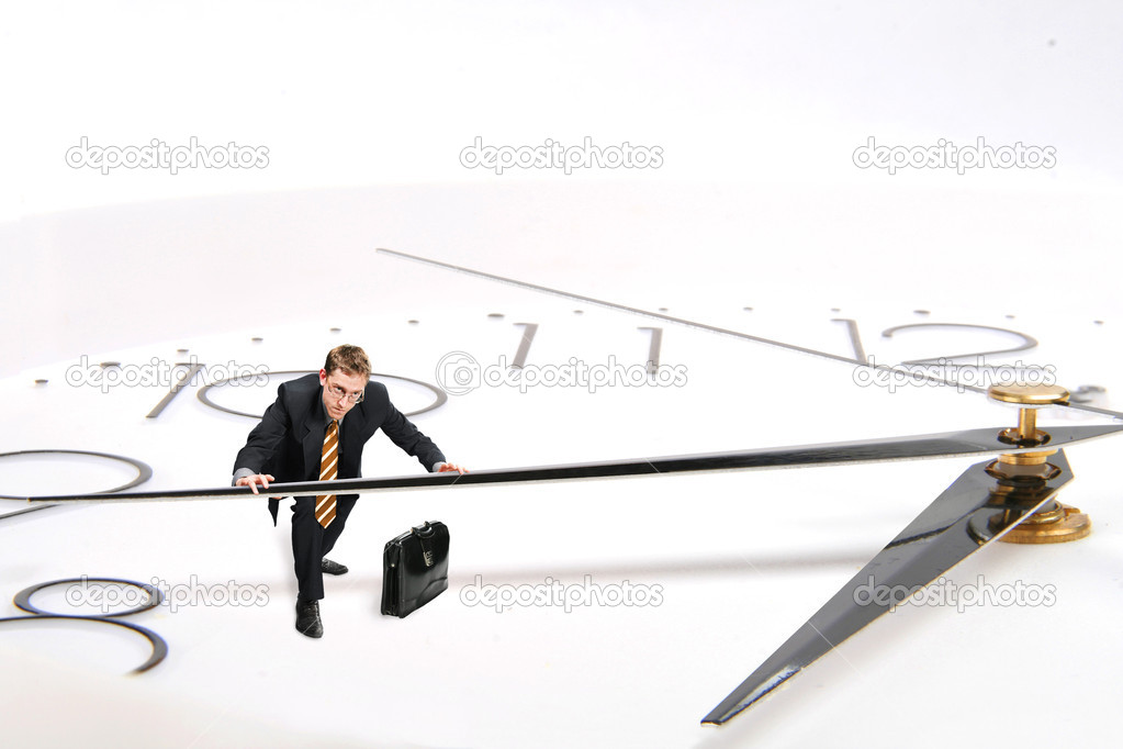 Businessman rushly moved by hand — Stock Photo #1523777