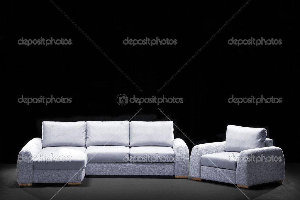 Luxury modern sofa — Stockfoto #1550834