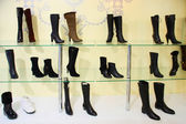 Shoes at the shop — Stock Photo