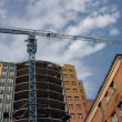 Construction of high-rise homes — Stock Photo