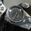 Black motorcycle speedometer — Stock Photo #1551663