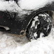 Car stalled in the snow - Stock Photo