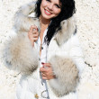 Stock Photo: Girl in furs 13