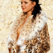 Stock Photo: Girl in furs 3
