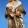 Girl in furs 9 — Stock Photo