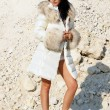 Stock Photo: Girl in furs 12