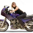 Pretty biker — Stock Photo