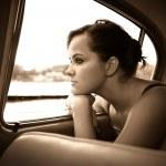 Pretty in the car — Stock Photo #1228766
