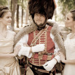 Stock Photo: Hussar in love