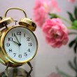 Stock Photo: Golden alarm clock