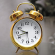 Golden alarm clock — Stock Photo #1229056