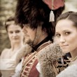 Stock Photo: Hussar's bride