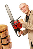 Chainsaw man — Stock Photo