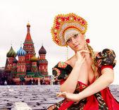 русская девушка — Стоковое фото
