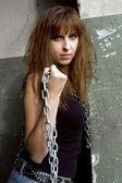 Rock'n'Roll девушка — Стоковое фото