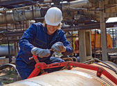 Yong worker — Stock Photo