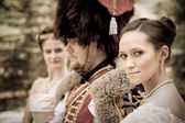 Hussar's bride — Stock Photo