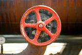 Red valve — Stock Photo