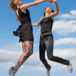 jumping girls — Stock Photo