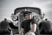 Retro driving — Stock Photo