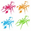 Scorpions and spiders — Stock Vector
