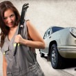 Pretty mechanic - Stock Photo