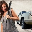 Stock Photo: Pretty mechanic