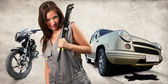 Pretty mechanic — Stock Photo