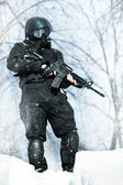 NATO soldier — Stock Photo