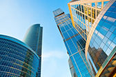 Modern skyscrapers towers perspective vi — Stock Photo
